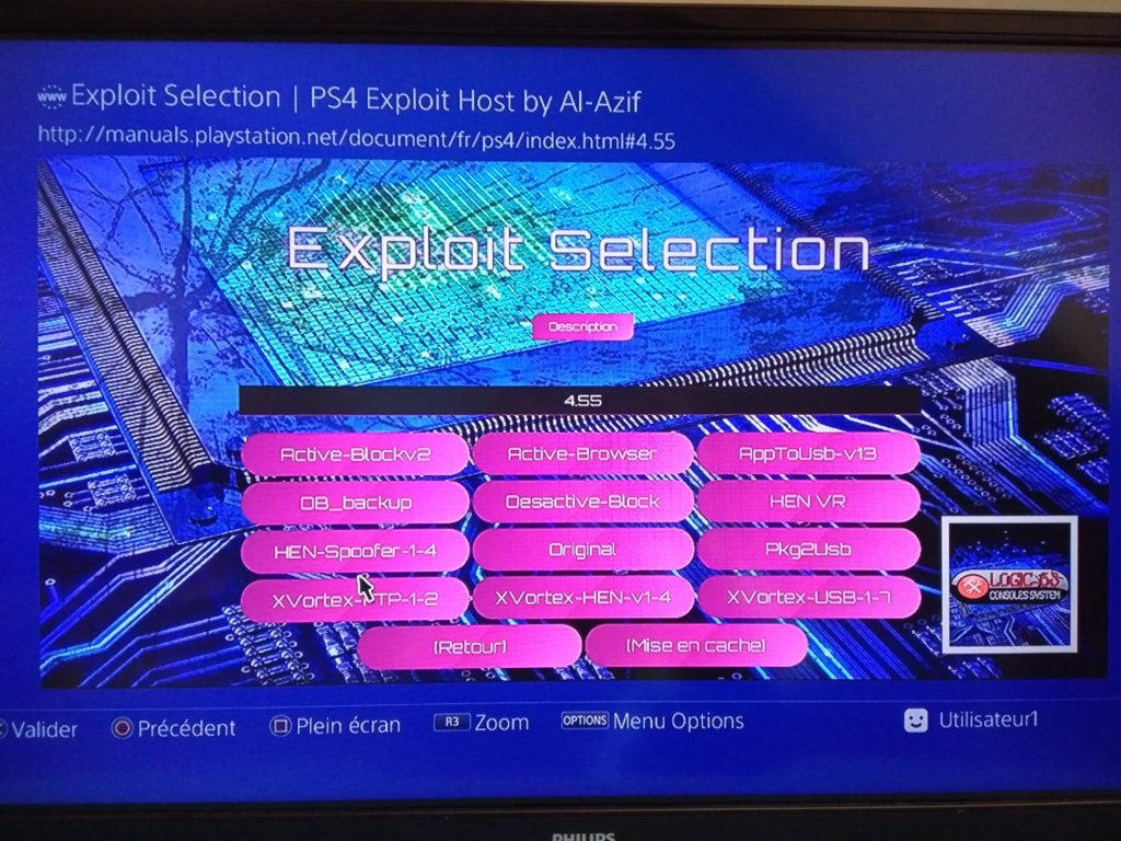 PS4-Exploit FR 0.4.6a1 violetlogic