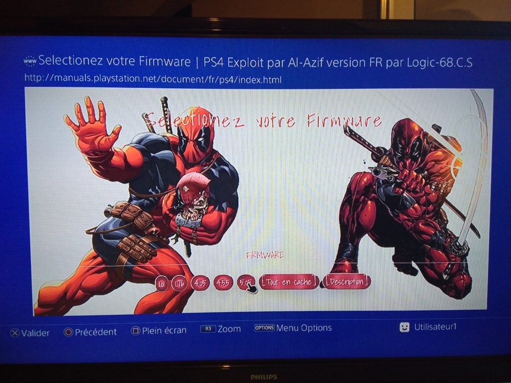 PS4-Exploit FR 0.4.6a1_deadpool2